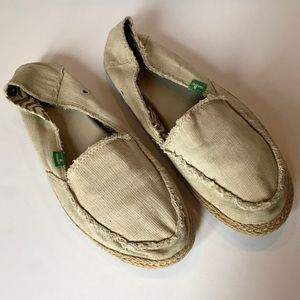 Sanuk | Muslin canvas espadrilles slip on shoes 9